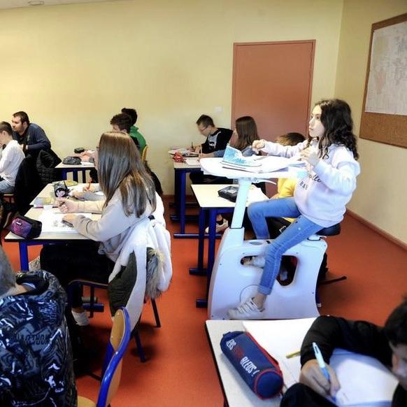 En salle d'étude