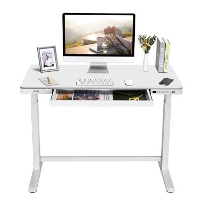 bureau debout blanc 2